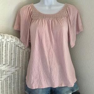 GAP LAVENDER RELAXED FIT T-SHIRT BLOUSE, XXL/14-16